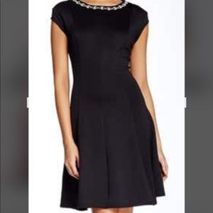 Classic Black Rhinestone Cocktail Dress